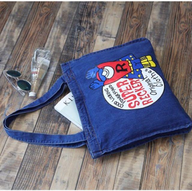 Denim Tote Bag - Dark Blue