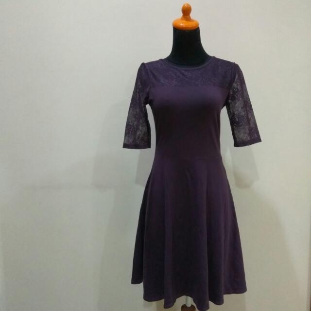Dorothy Perkins Lace Purple Dress