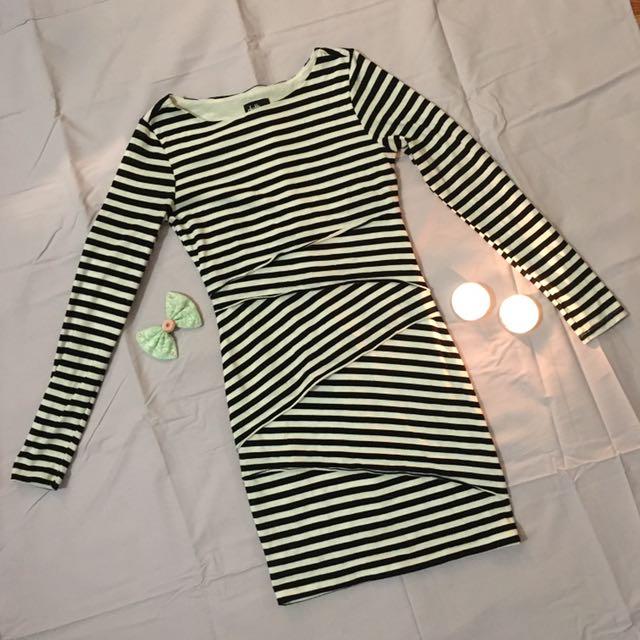 Dotti Striped Bandage Dress