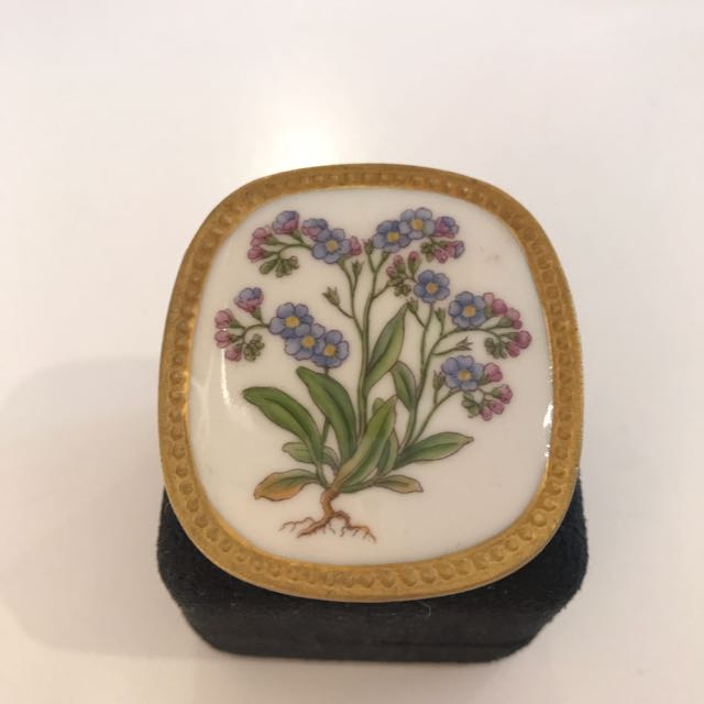 Enamel Flower Broach