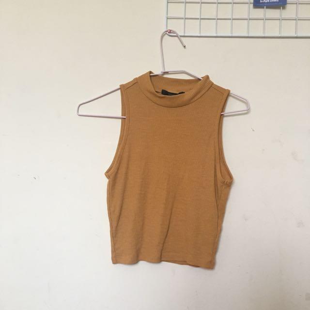 F21 Mock Neck Tank Top