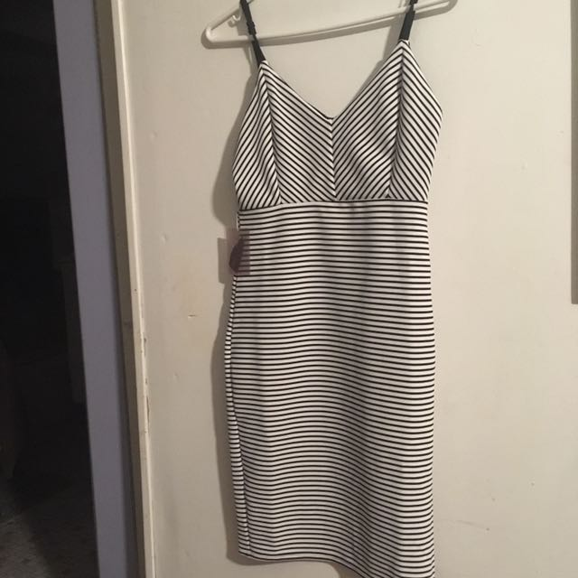 F21 Striped Bodycon Dress