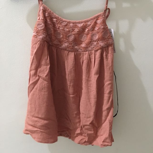 Forever 21 Embroidered Cami Trim