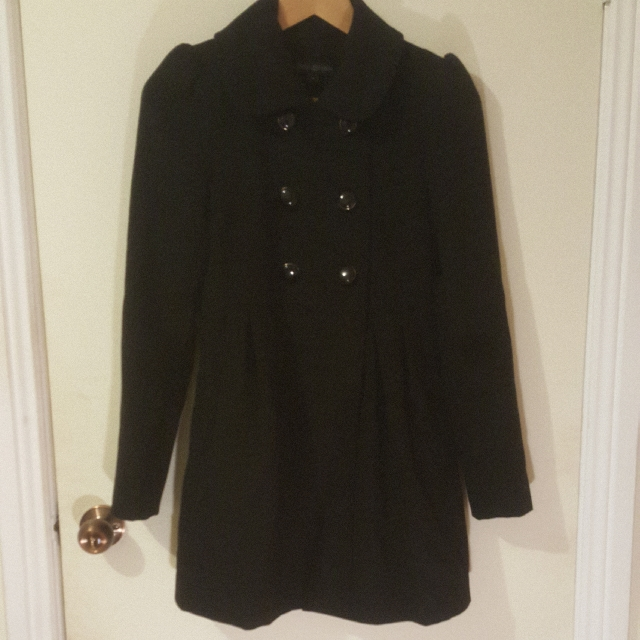 FOREVER NEW Size 6 Black Coat