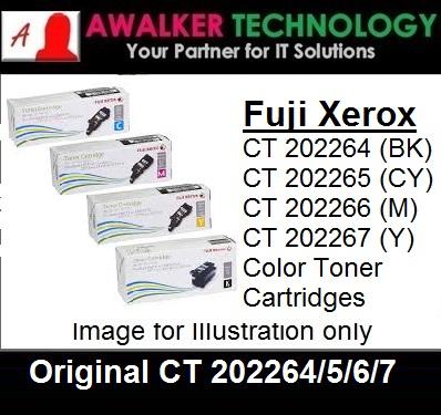 Fuji Xerox Original CT220264 Black CT202264 Cyan CT202266 Magenta CT202267  Yellow Color Original Laser Toner Cartridges 2000 Pages Printer Model