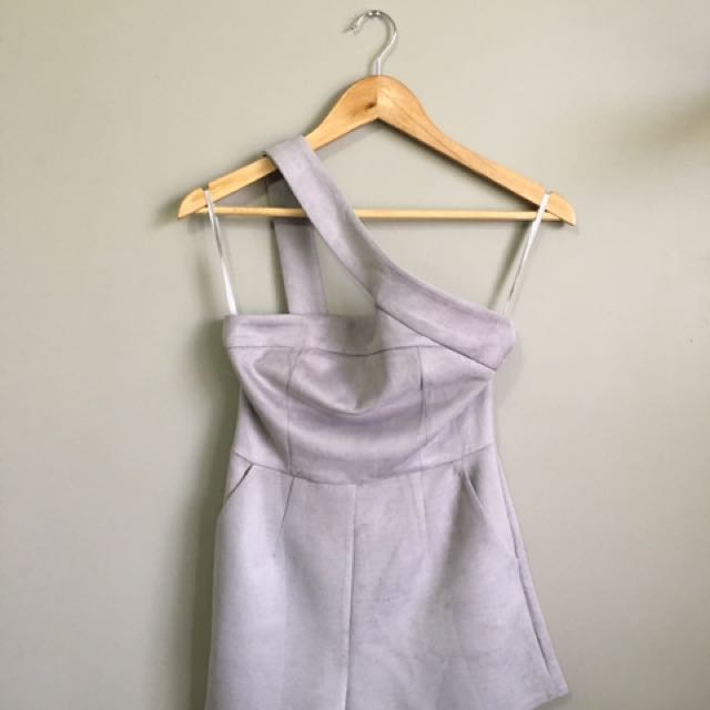 Gray Velvet Playsuit