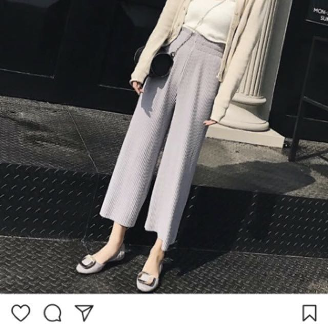 Grey Pleated Cullottes