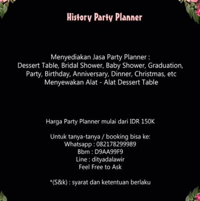 History Party Planner
