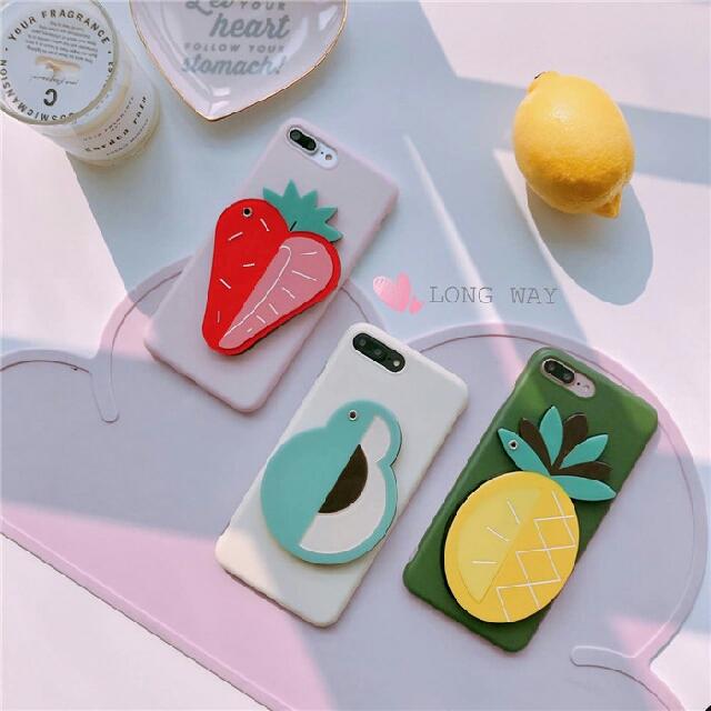 韓國蘋果iPhone水果款小鏡面手機殼