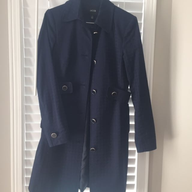 Jacob Blue Trench Coat Size 2