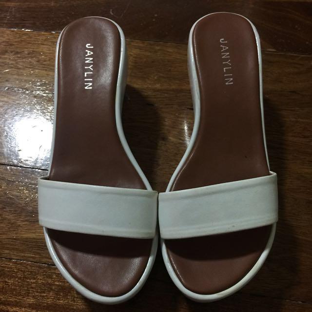 Janylin White Sandals
