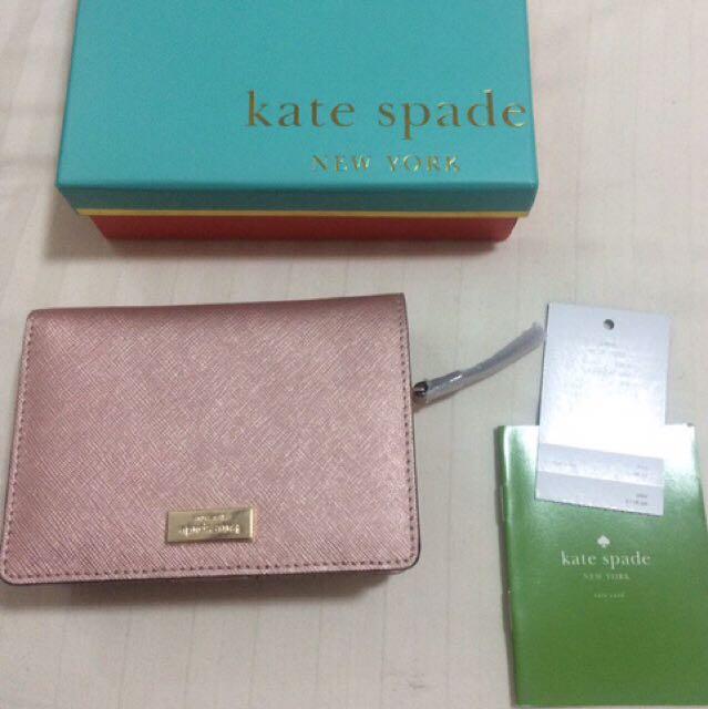 Kate spade wallet in rosegold