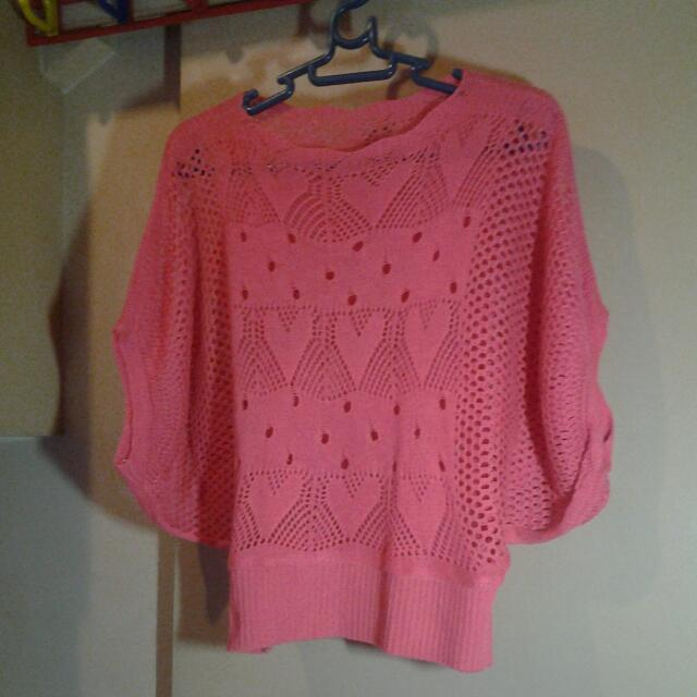 Knitted Color Peach Blouse