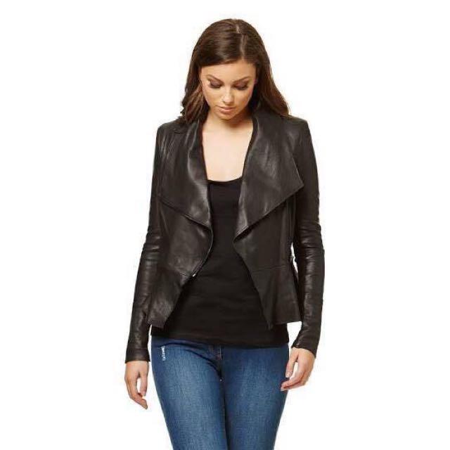 fa1f418898 Kookai - Lafayette Leather Jacket - Size 40 (12)