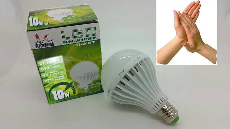 Lampu LED Sensor Tepuk / Bohlam LED Sensor Suara 10 Watt, Mobile Phones & Tablets on Carousell