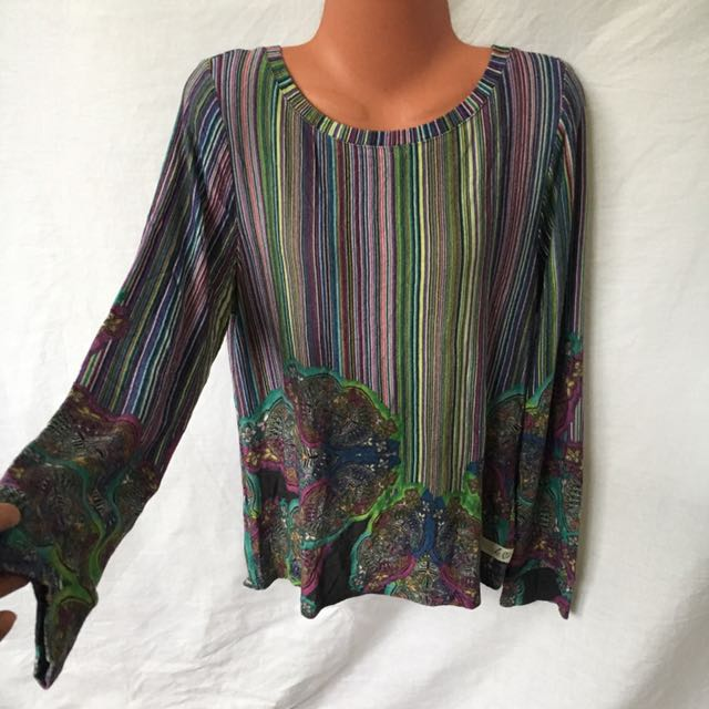 Large Longsleeve knitted Colorful Top