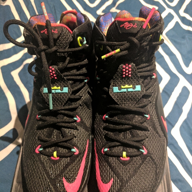 LeBron 12 US10/10.5 Black/Sport Red $150