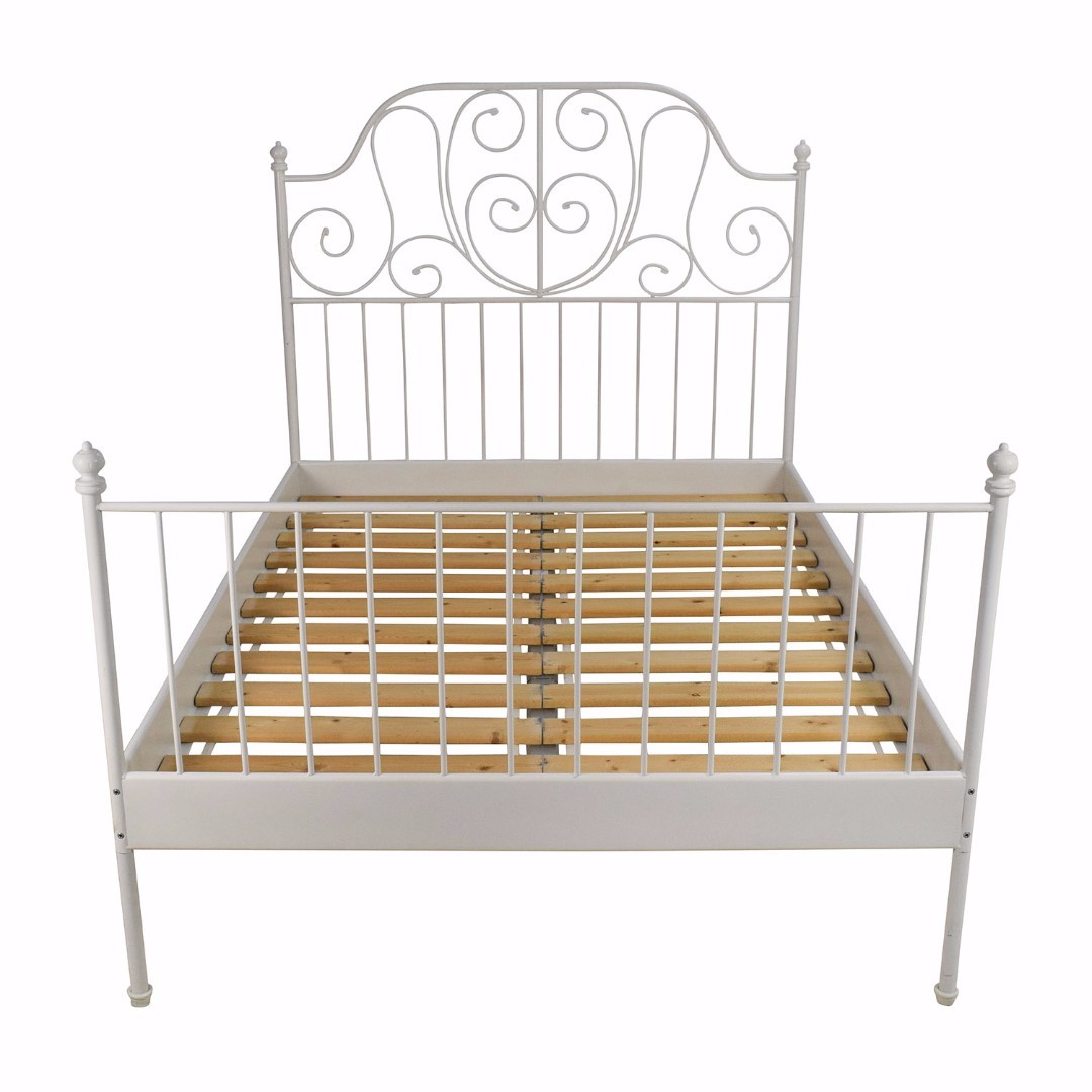 Leirvik Bed frame come with mattress IKEA