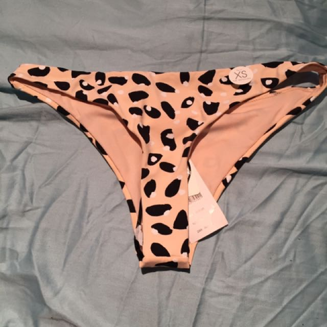 Leopard Print Peach Colour Brazilian Bathers