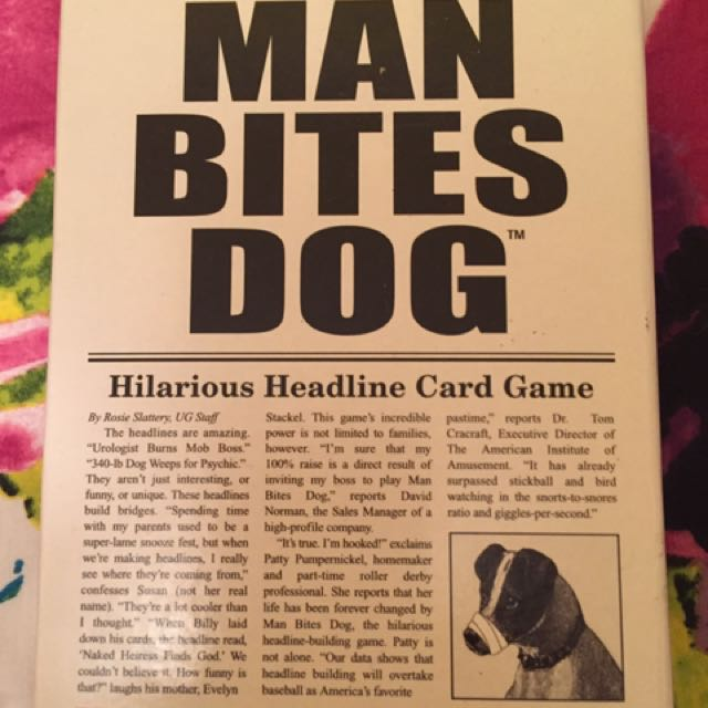 Man Bites Dog Card
