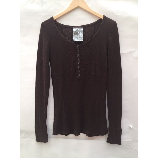 Mango Sweater Brown