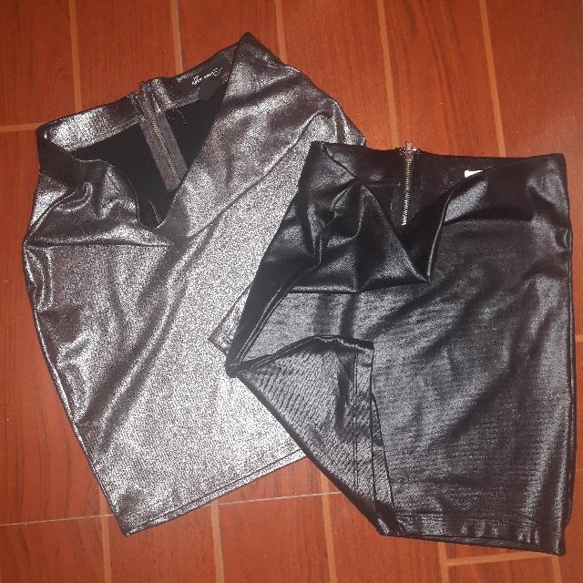 Metallic Bondage Skirt