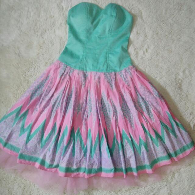 A-LINE MINI DRESS Batik Pastel