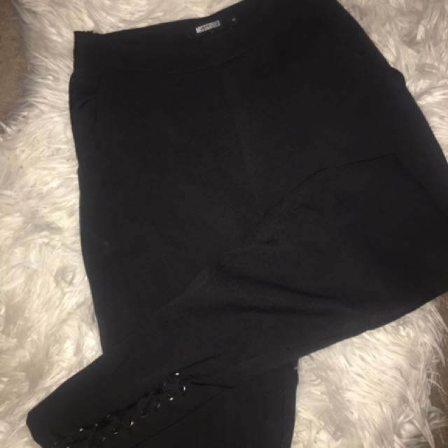 Missguided lace up pants