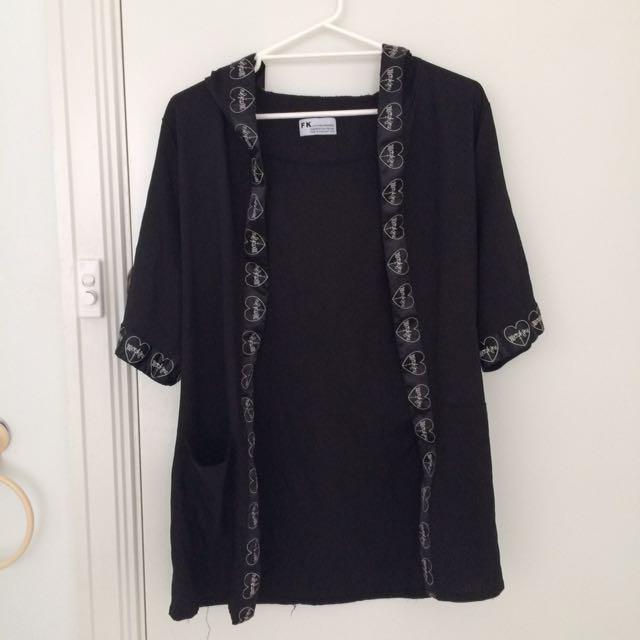 Morph8ne Style Black Kimono Sleeve