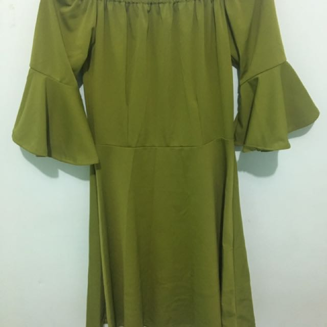 Mud Green Dress