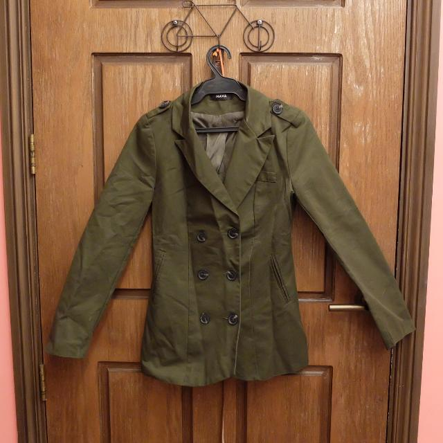 BNEW Nava Olive Green Coat