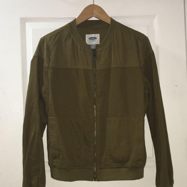 OLD NAVY Olive Green Lightweight Bomber Jacket