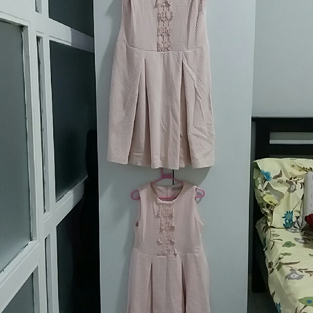 Bundle Peppermint Pink Dresses For Mom and Daughter