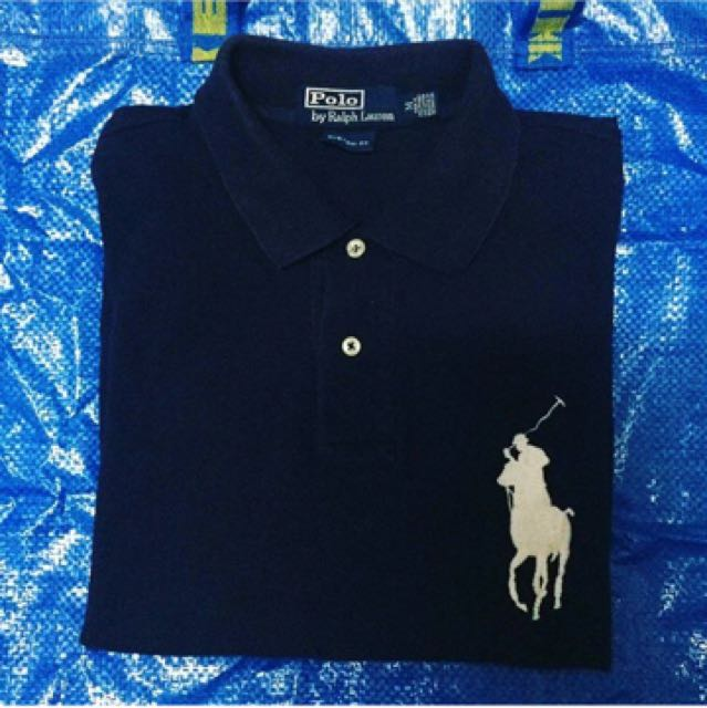 Ralph Lauren Darkblue Yellow Big Pony Polo Men
