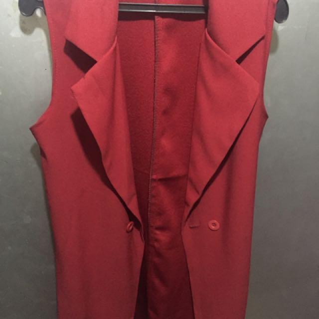 Preloved red blazer