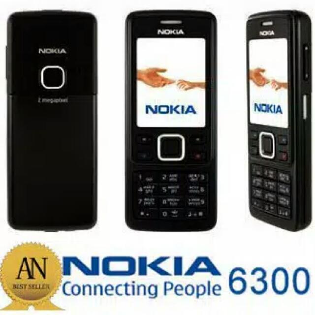 Nokia 6300 Classic Original Hitam/Silver