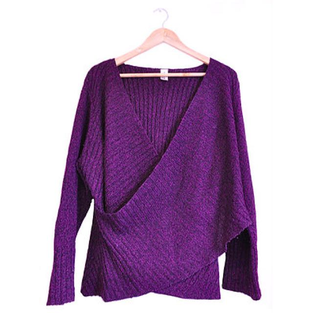Purple Wrap Front Knit (22/24)