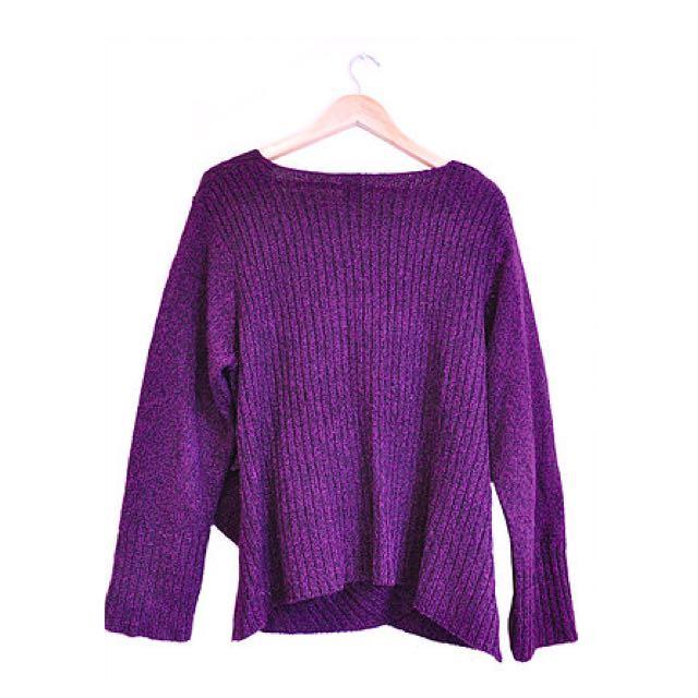 Purple Wrap Front Knit (22/24)