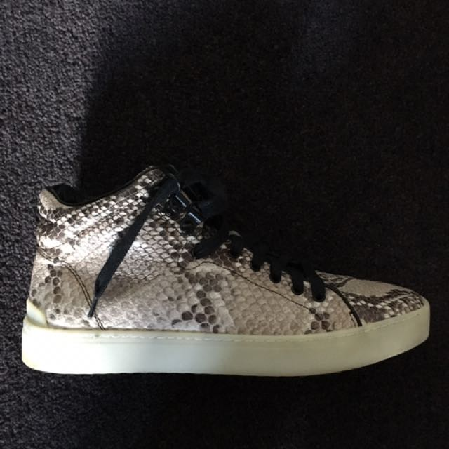 Rag & Bone women's sneakers 38 leather snakeskin