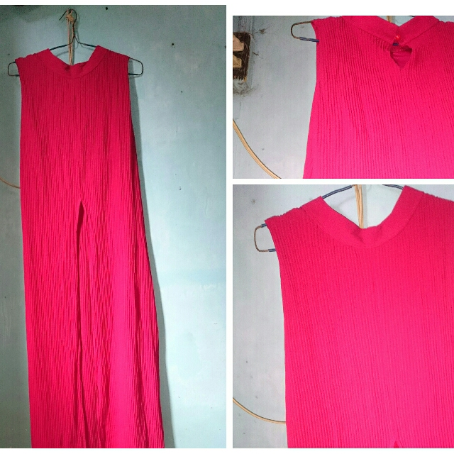 Red Maxi Dress With Front Slit