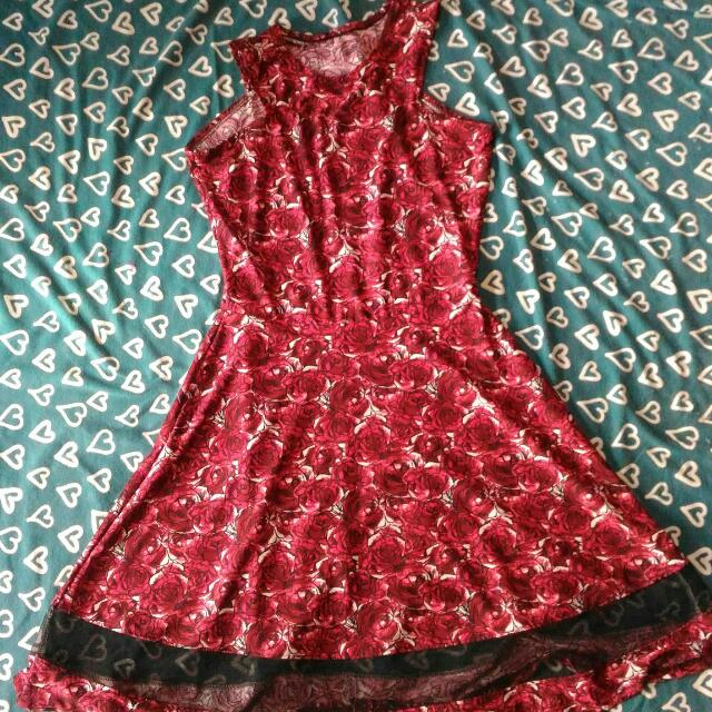 RED STRETCHABLE DRESS