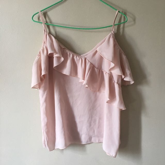 Pastel Pink Ruffled Top