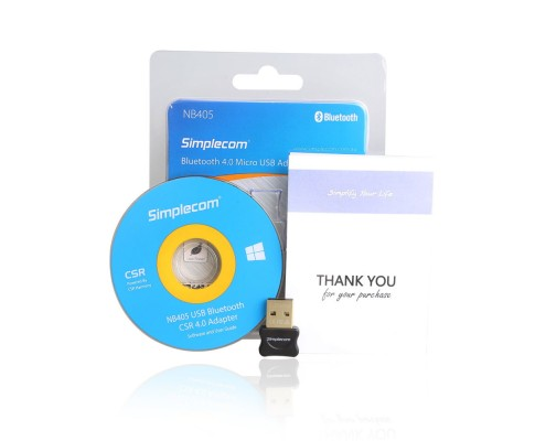 Simplecom NB405 USB Bluetooth 4.0 CSR Adapter Wireless Dongle with A2DP EDR