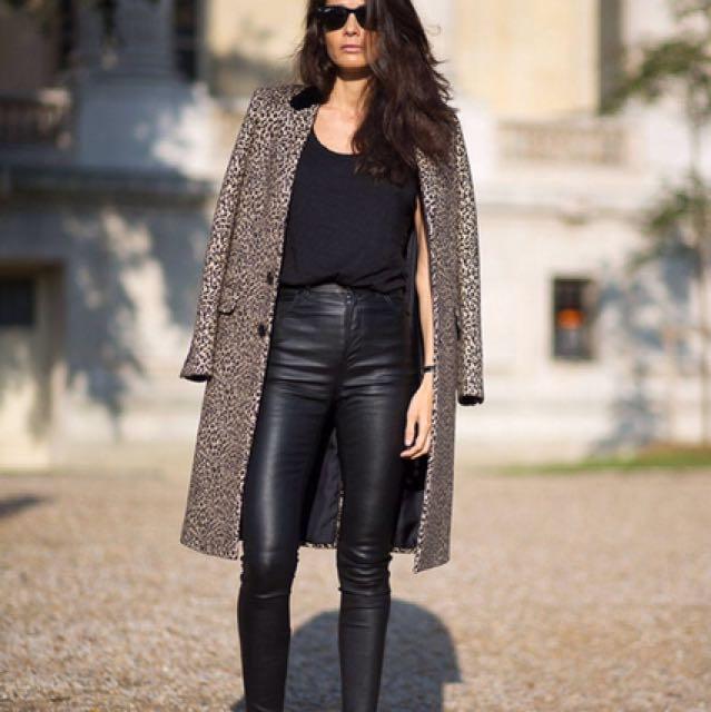 skinny high waisted leather pants