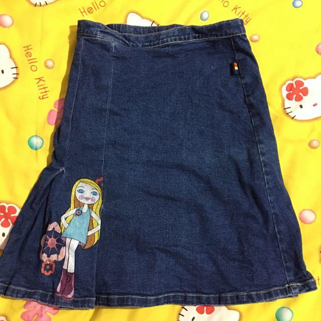 Splish Splash Jeans Skirt