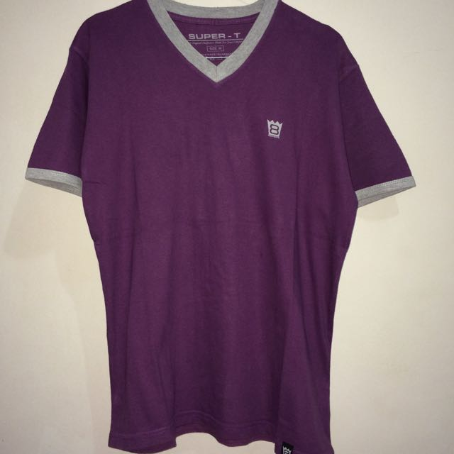 Super-T Shirt Purple-Grey Color