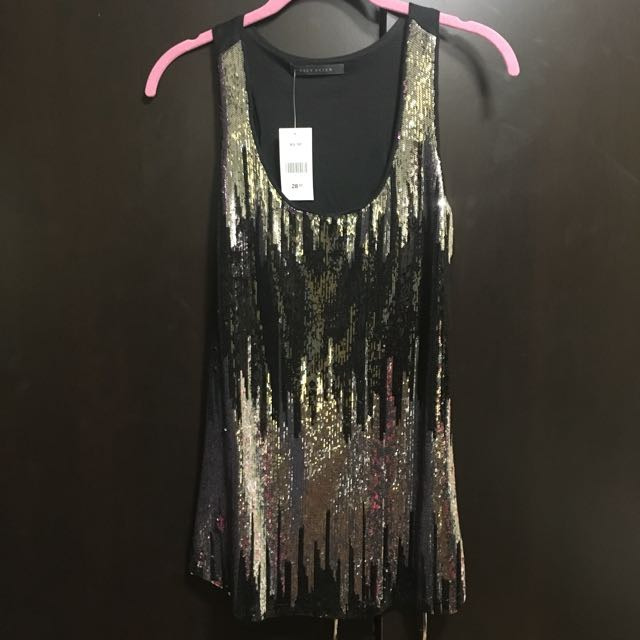 Suzy Shier Sequin Top (xs)