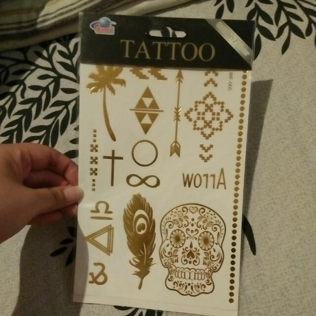 Temporary Golden Metallic Tattoos