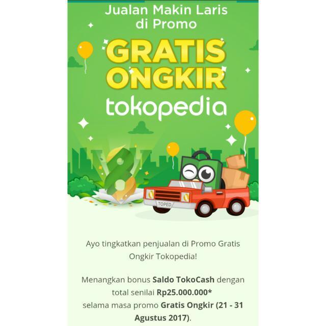 TokPed Free Ongkir **