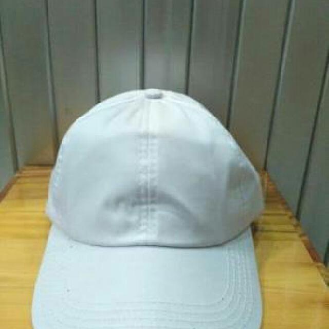 Topi Baseball Polos Putih 31f3c4d265